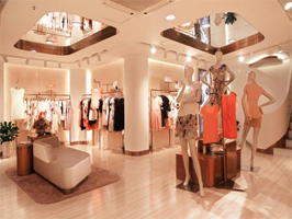 Electronic salesperson solution in clothing retail shop